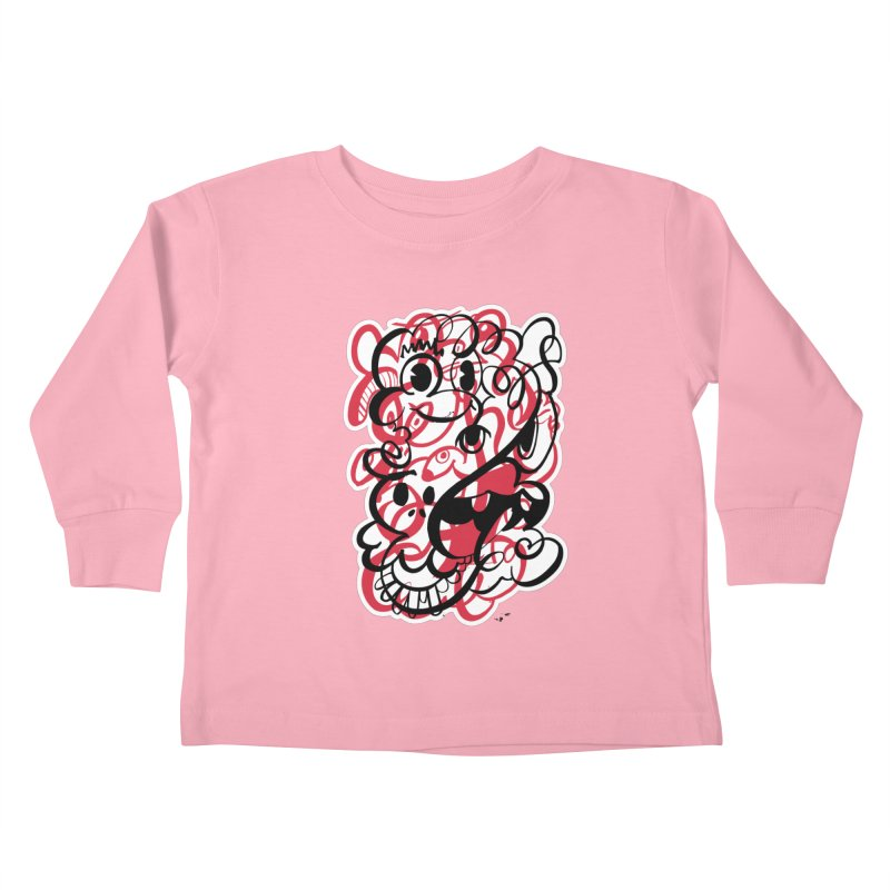 Doodle of the day II – red version Kids Toddler Longsleeve T-Shirt by Favati