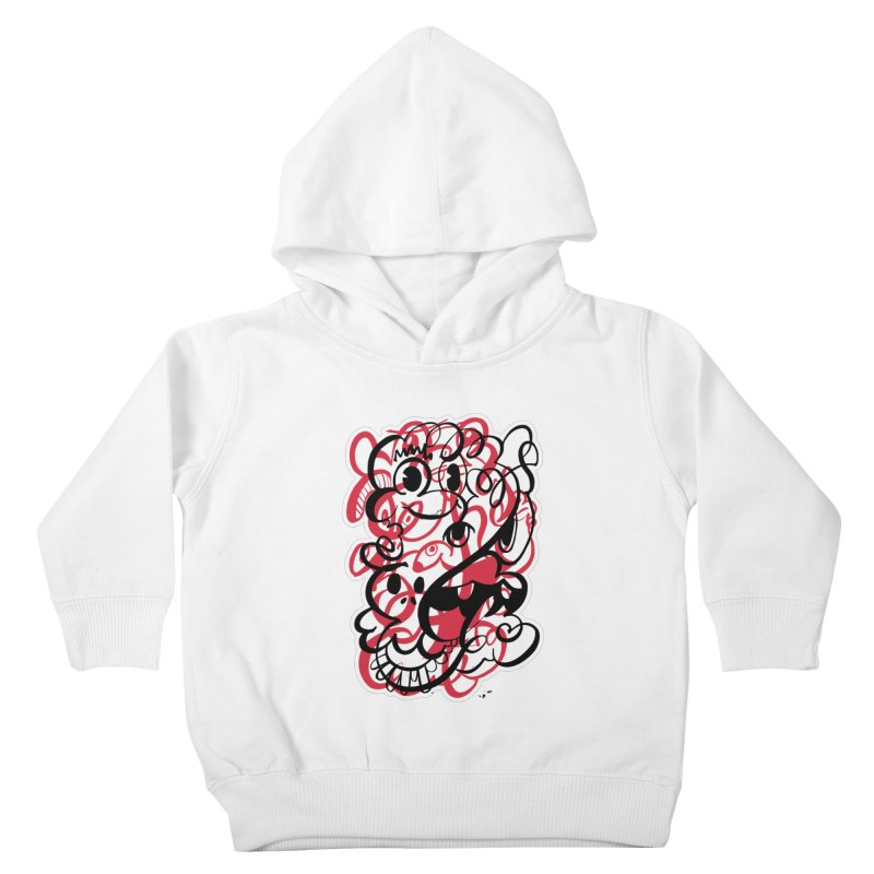 Doodle of the day II – red version Kids Toddler Pullover Hoody by Favati