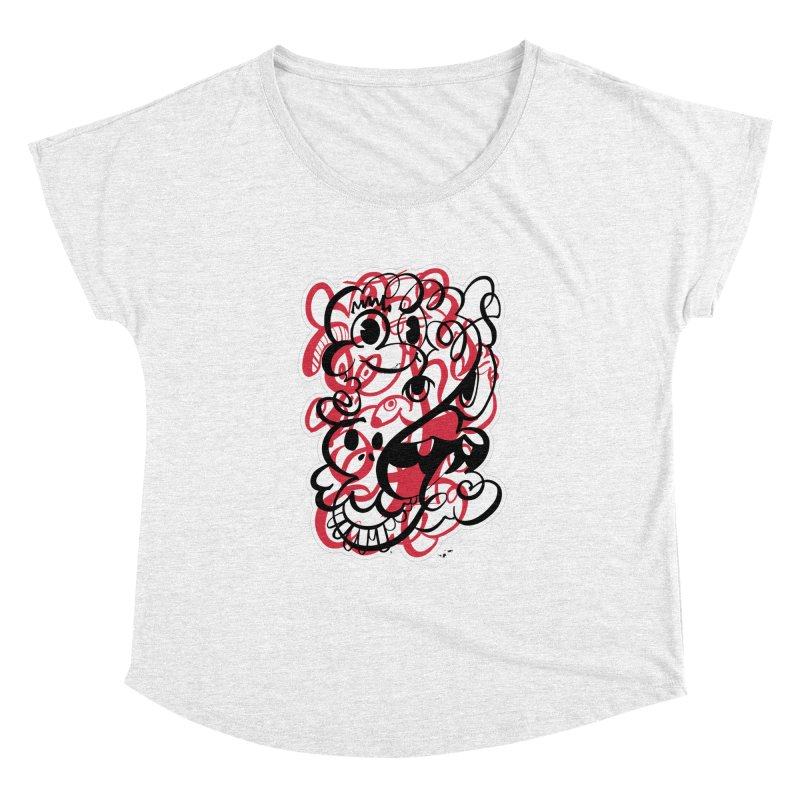 Doodle of the day II – red version Women's Dolman by Favati