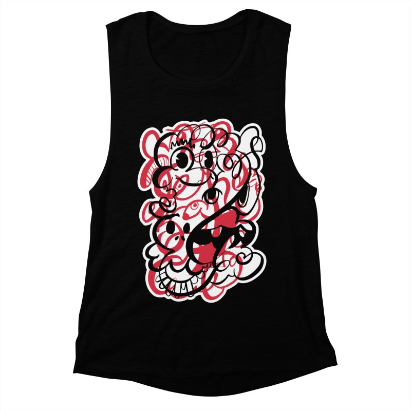 Doodle of the day II – red version Women's Muscle Tank by Favati