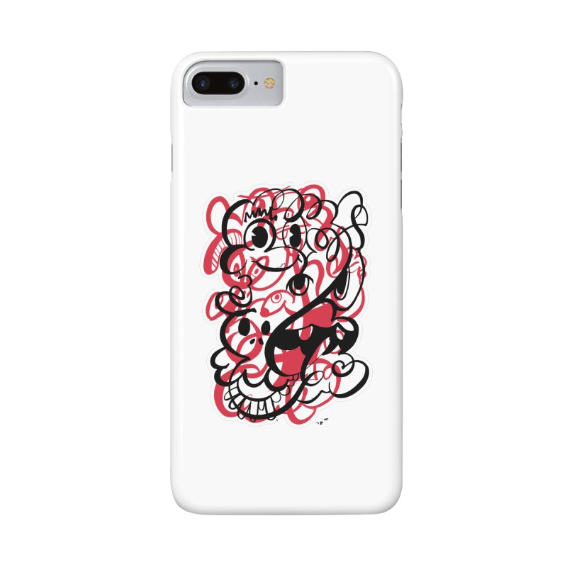 Doodle of the day II – red version Accessories Phone Case by Favati