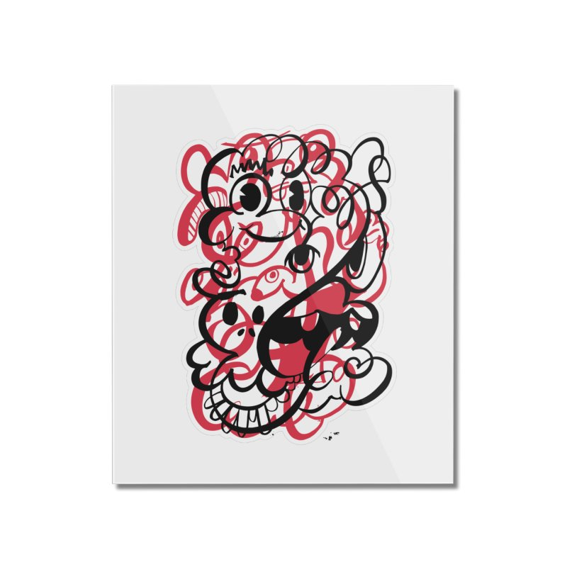 Doodle of the day II – red version Home Mounted Acrylic Print by Favati