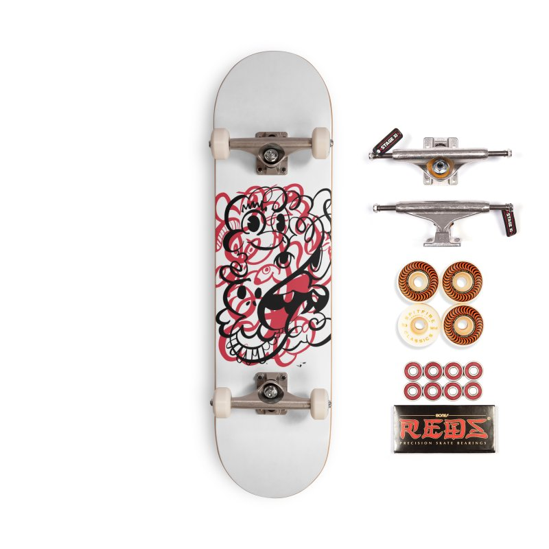 Doodle of the day II – red version Accessories Skateboard by Favati