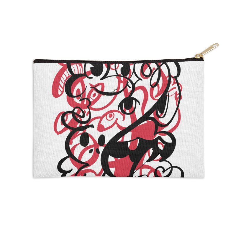 Doodle of the day II – red version Accessories Zip Pouch by Favati