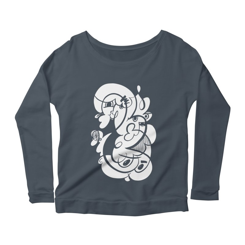 Doodle of the day V Women's Longsleeve Scoopneck  by Favati