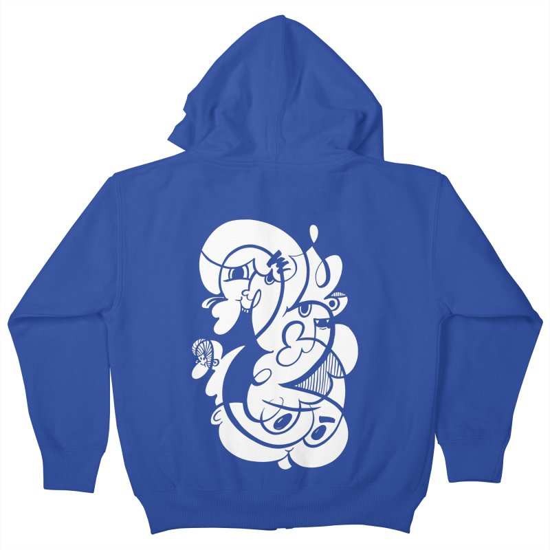 Doodle of the day V Kids Zip-Up Hoody by Favati