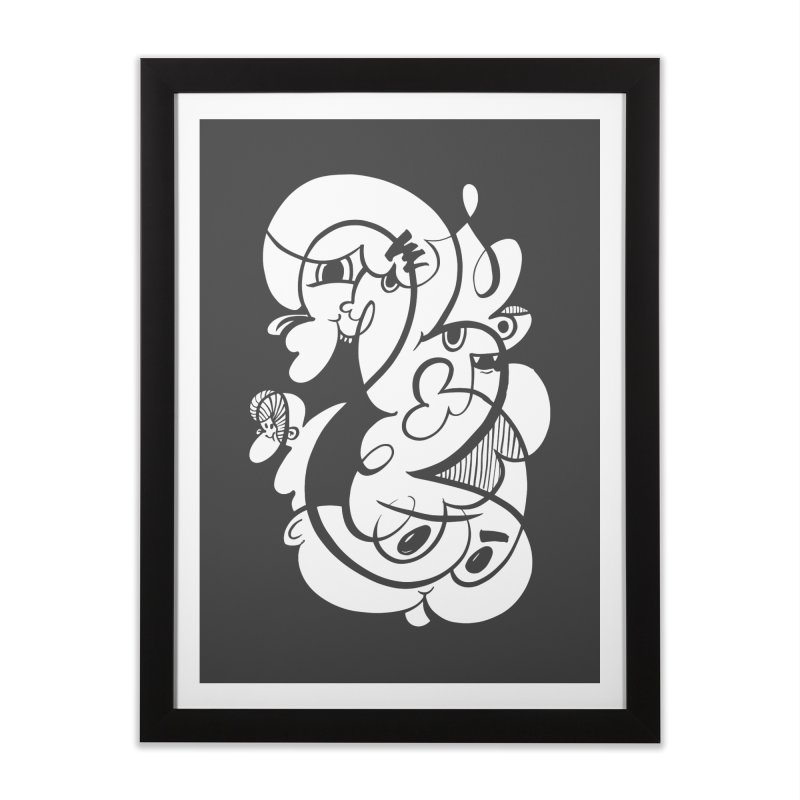 Doodle of the day V Home Framed Fine Art Print by Favati