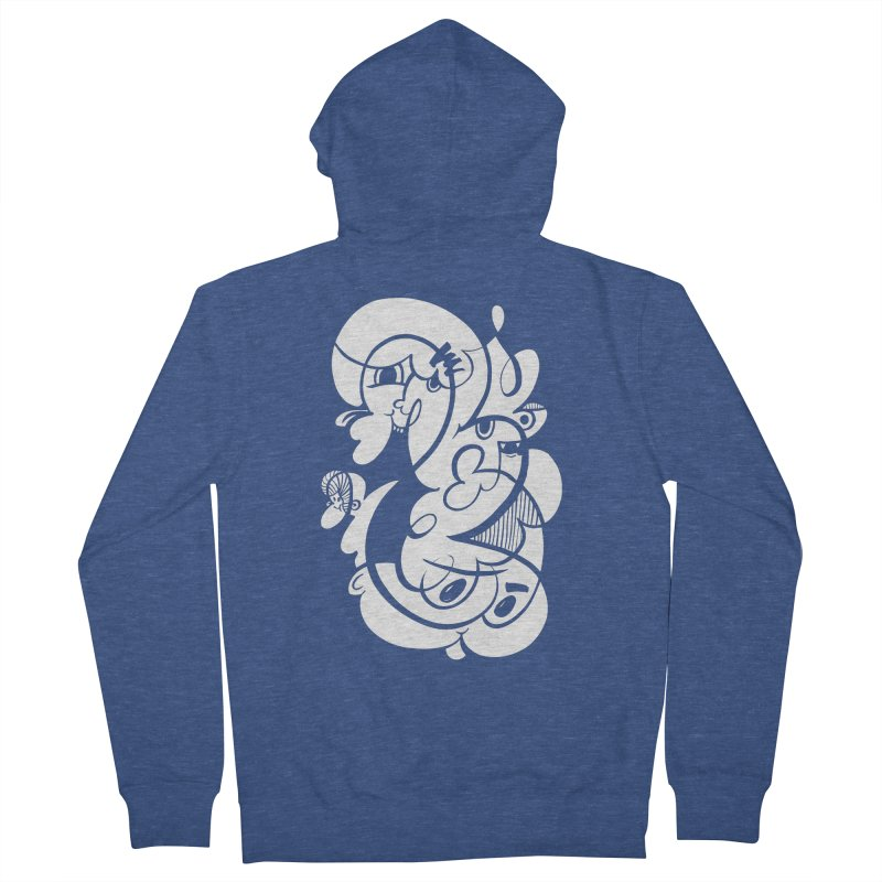 Doodle of the day V Men's French Terry Zip-Up Hoody by Favati