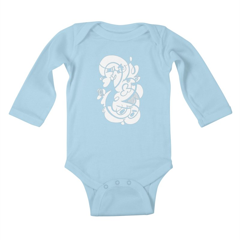 Doodle of the day V Kids Baby Longsleeve Bodysuit by Favati