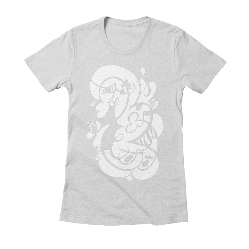 Doodle of the day V Women's Fitted T-Shirt by Favati