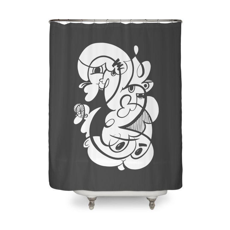 Doodle of the day V Home Shower Curtain by Favati