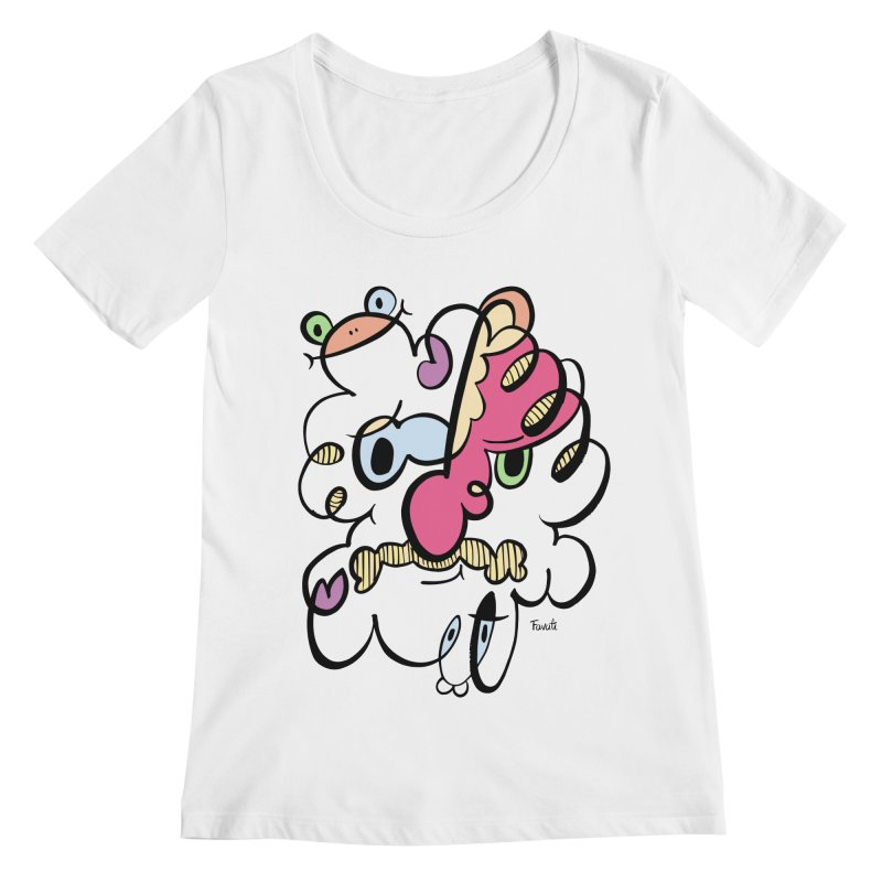 Doodle of the day VIII Women's Regular Scoop Neck by Favati