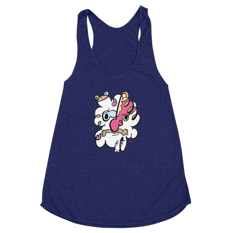 Doodle of the day VIII Women's Racerback Triblend Tank by Favati