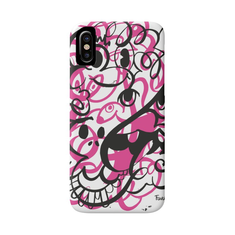 Doodle of the day II – pink version Accessories Phone Case by Favati