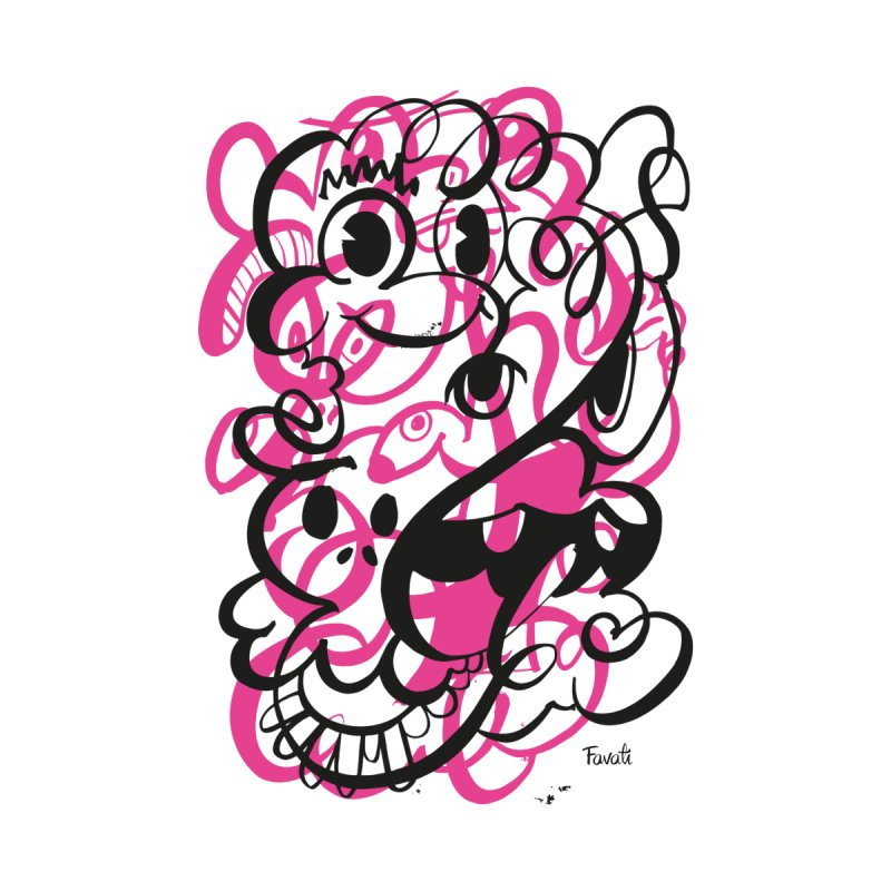 Doodle of the day II – pink version Men's Sweatshirt by Favati