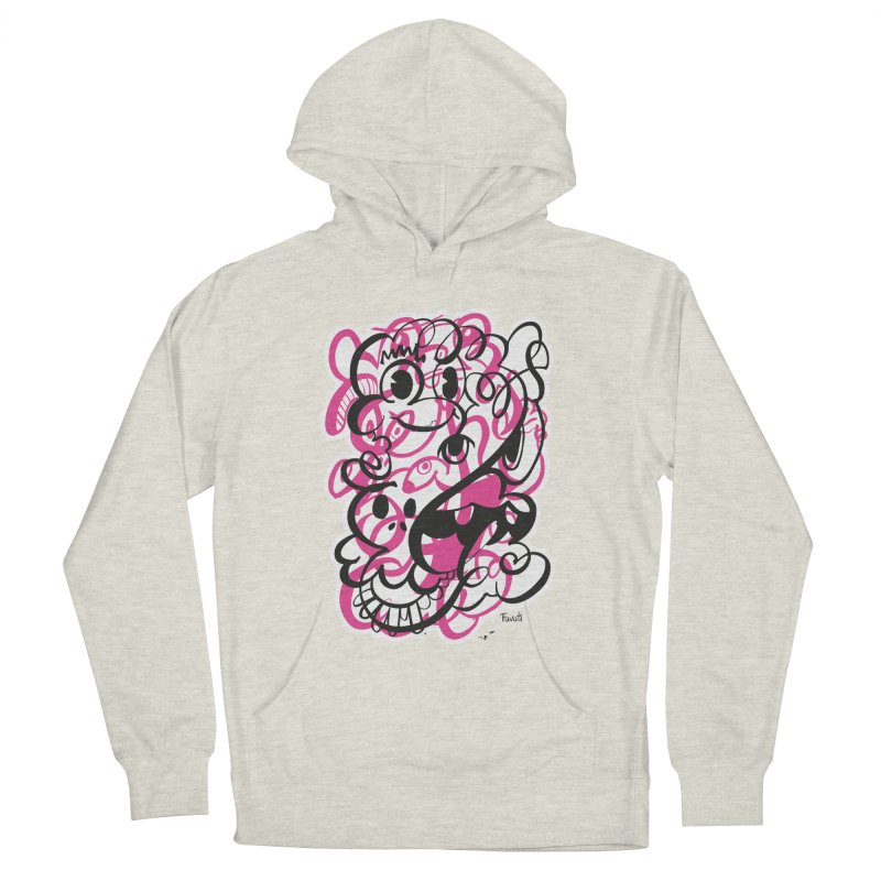 Doodle of the day II – pink version Men's French Terry Pullover Hoody by Favati