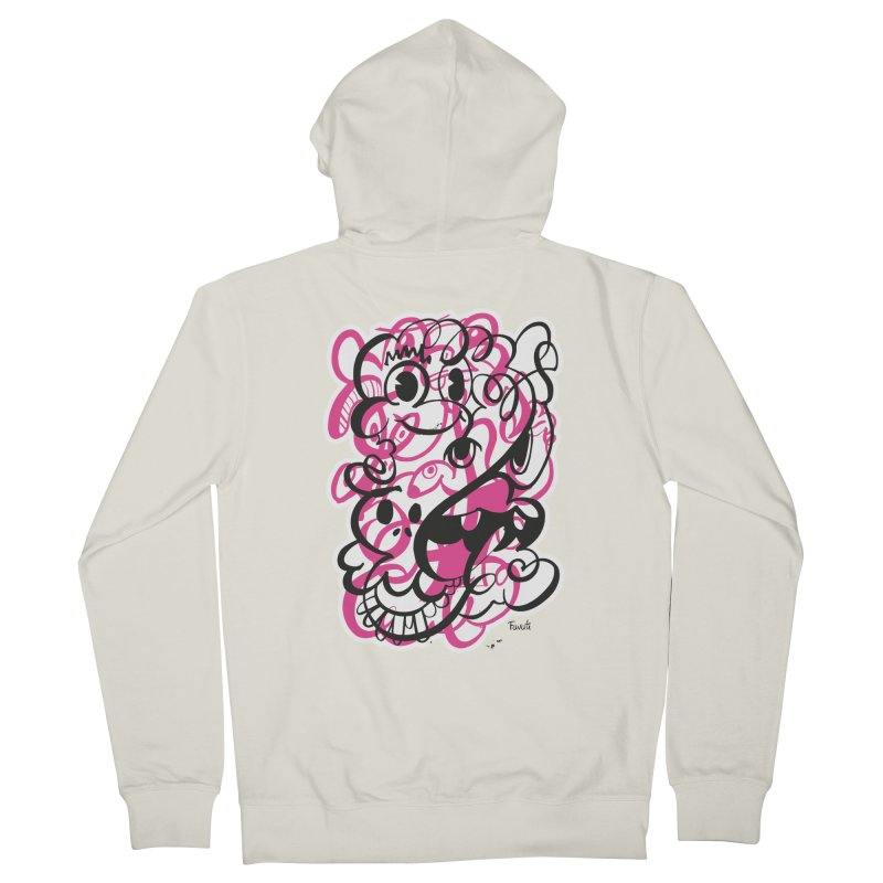 Doodle of the day II – pink version Men's Zip-Up Hoody by Favati
