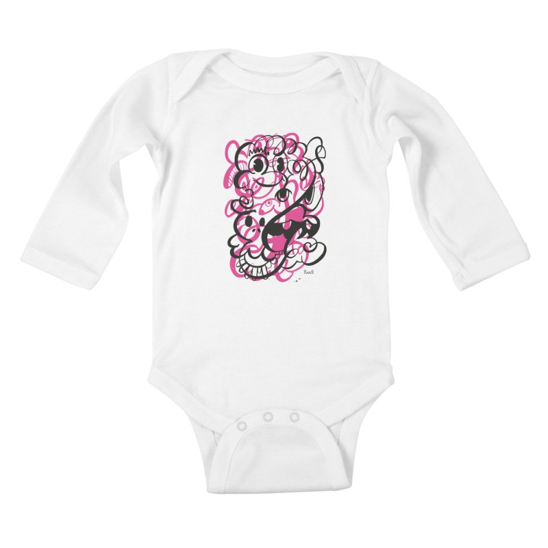 Doodle of the day II – pink version Kids Baby Longsleeve Bodysuit by Favati