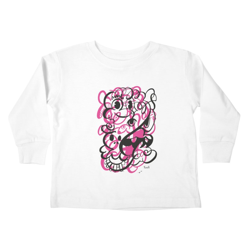 Doodle of the day II – pink version Kids Toddler Longsleeve T-Shirt by Favati