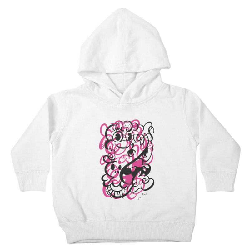 Doodle of the day II – pink version Kids Toddler Pullover Hoody by Favati