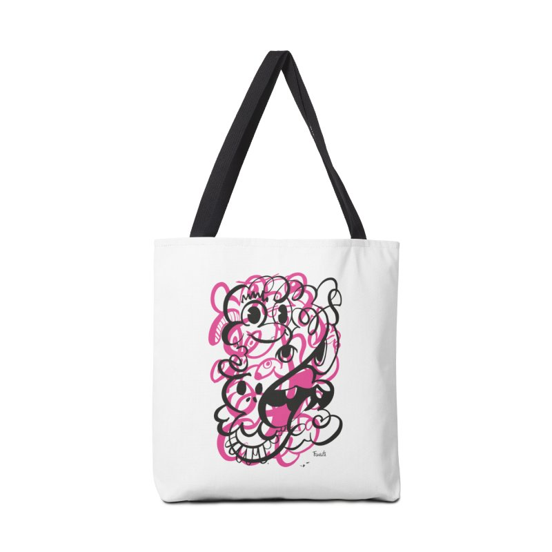 Doodle of the day II – pink version Accessories Bag by Favati