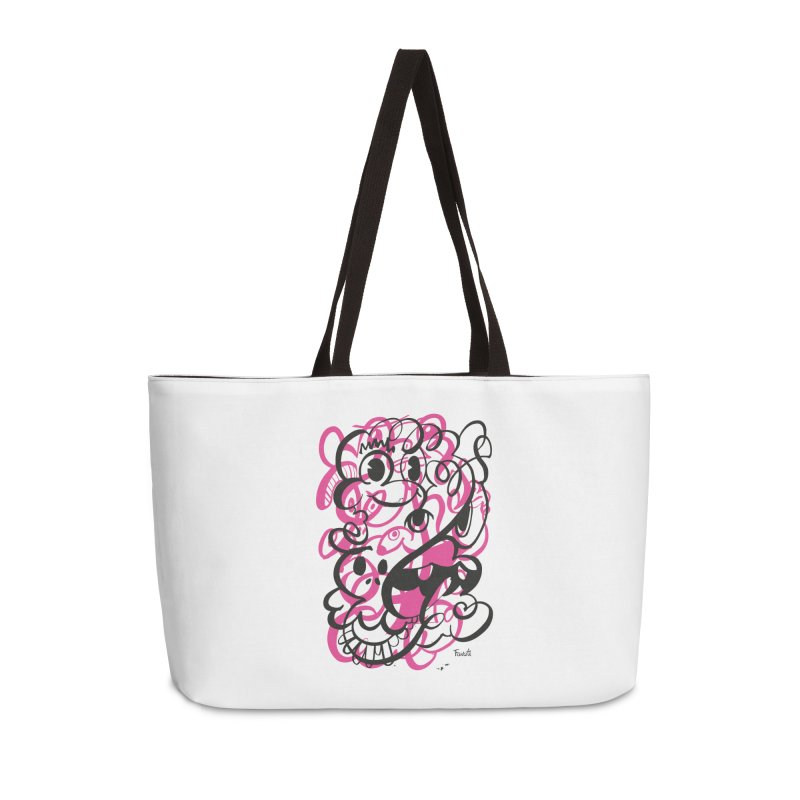 Doodle of the day II – pink version Accessories Weekender Bag Bag by Favati