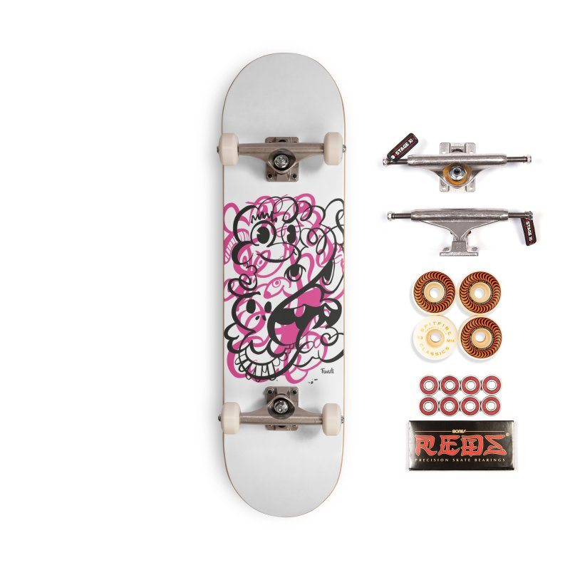 Doodle of the day II – pink version Accessories Skateboard by Favati