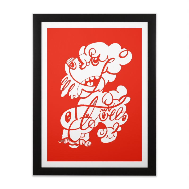 The Doodle Family Home Framed Fine Art Print by Favati