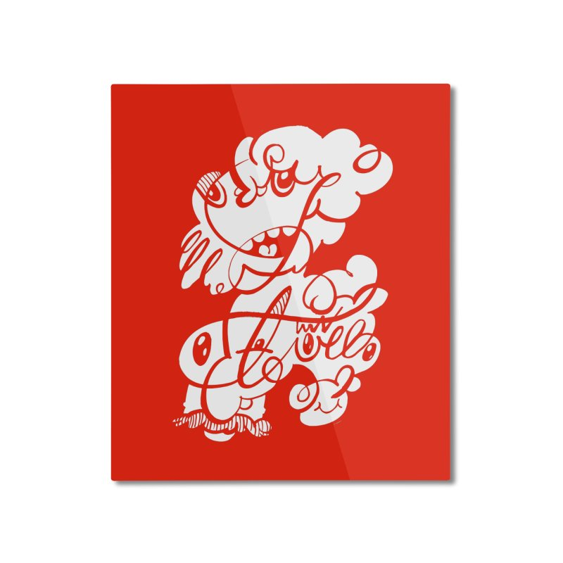 The Doodle Family Home Mounted Aluminum Print by Favati