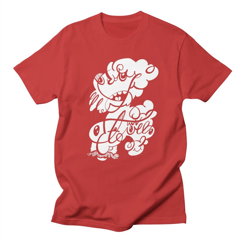 The Doodle Family in Men's Regular T-Shirt Red by Favati
