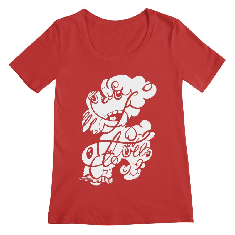 The Doodle Family Women's Regular Scoop Neck by Favati
