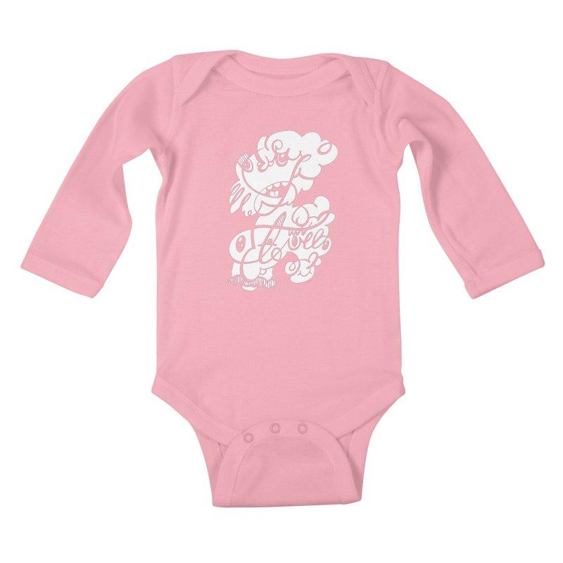 The Doodle Family Kids Baby Longsleeve Bodysuit by Favati