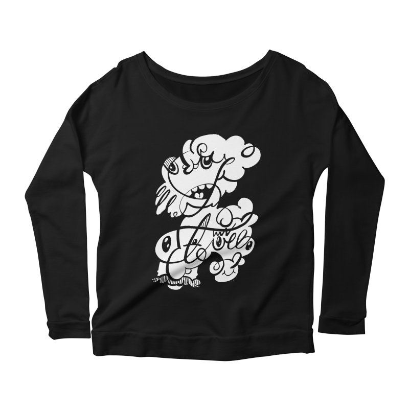 The Doodle Family Women's Scoop Neck Longsleeve T-Shirt by Favati