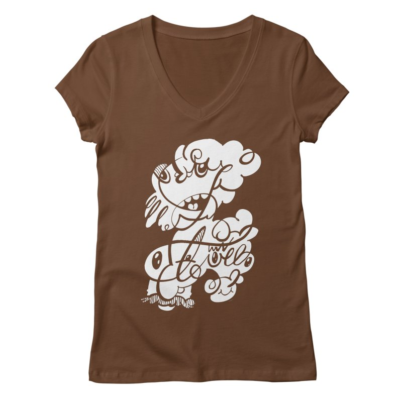 The Doodle Family Women's V-Neck by Favati