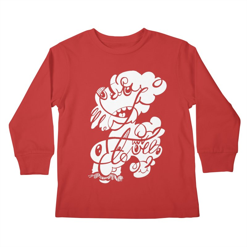 The Doodle Family Kids Longsleeve T-Shirt by Favati