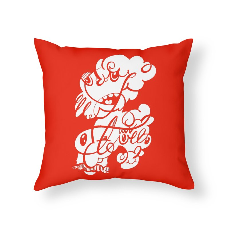 The Doodle Family Home Throw Pillow by Favati