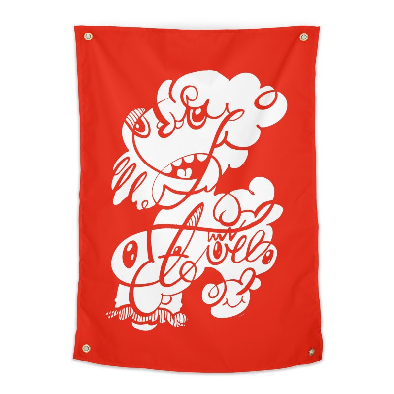 The Doodle Family Home Tapestry by Favati