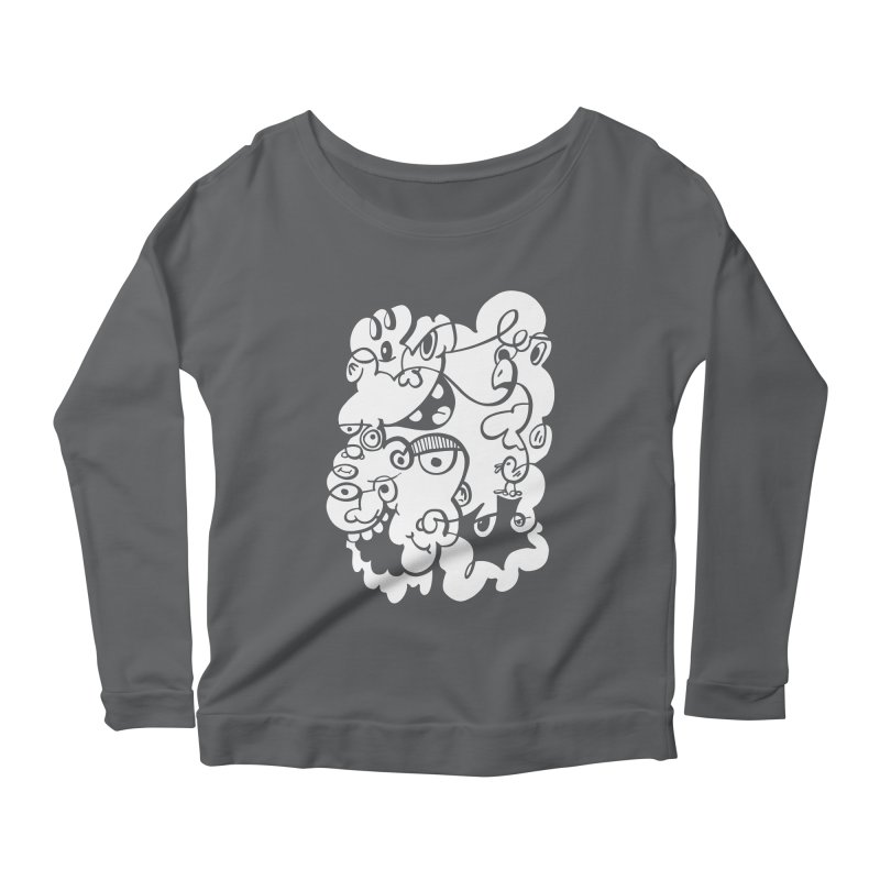 Doodle of the day IV Women's Longsleeve Scoopneck  by Favati