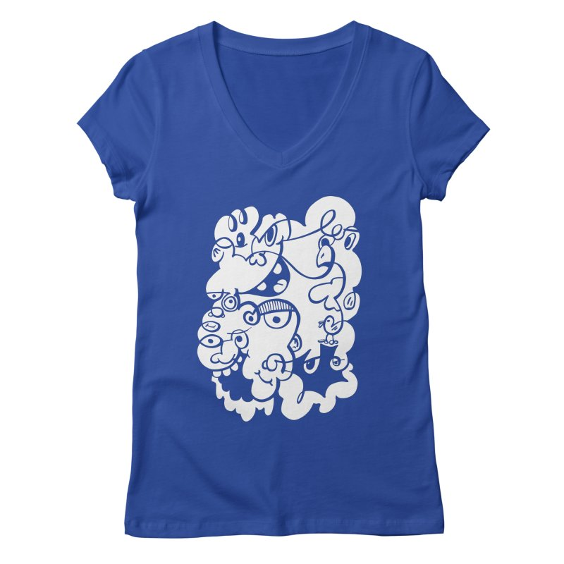 Doodle of the day IV Women's V-Neck by Favati