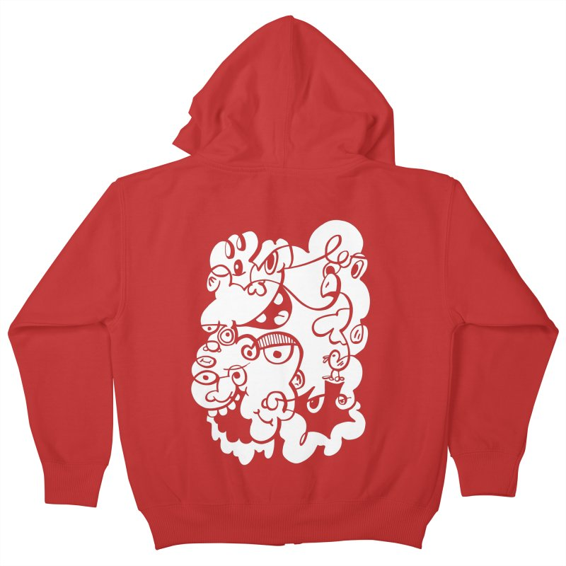 Doodle of the day IV Kids Zip-Up Hoody by Favati