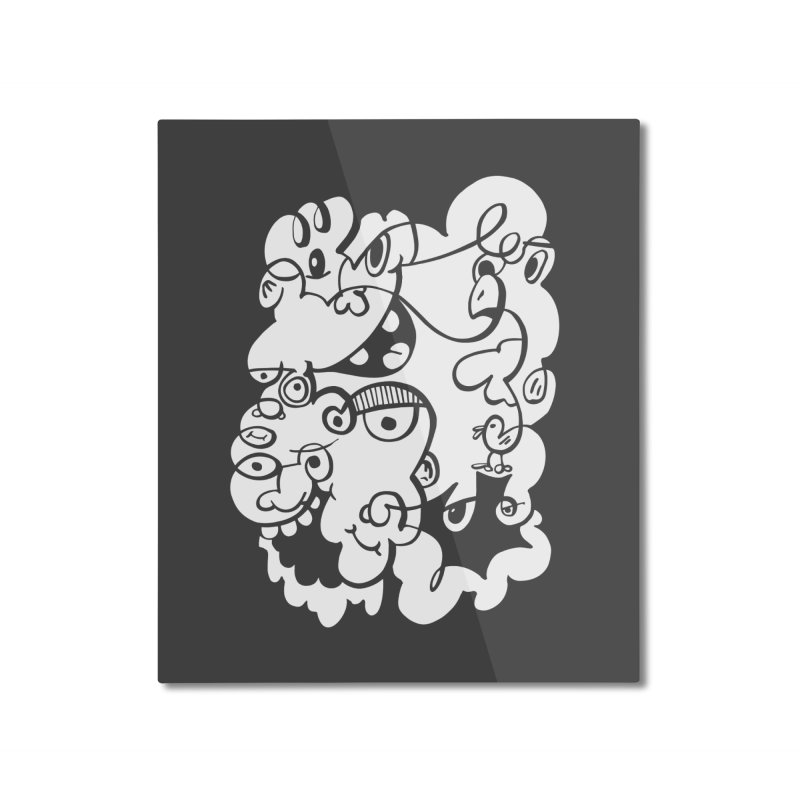 Doodle of the day IV Home Mounted Aluminum Print by Favati