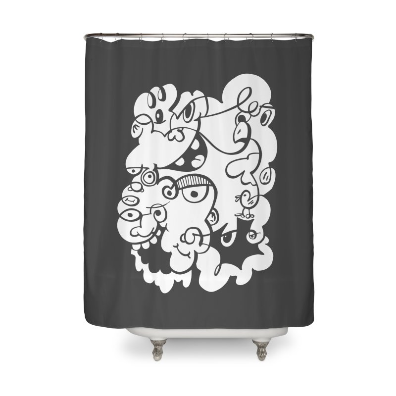 Doodle of the day IV Home Shower Curtain by Favati
