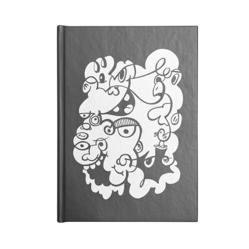 Doodle of the day IV Accessories Lined Journal Notebook by Favati