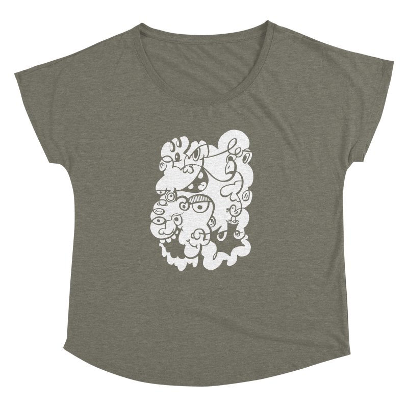 Doodle of the day IV Women's Dolman Scoop Neck by Favati