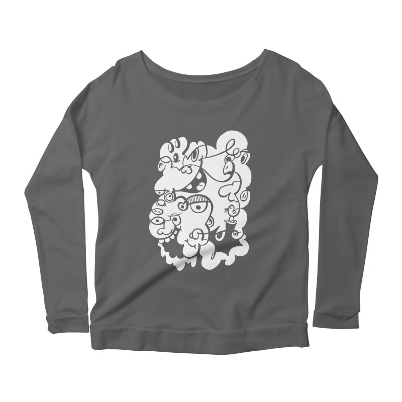 Doodle of the day IV Women's Scoop Neck Longsleeve T-Shirt by Favati
