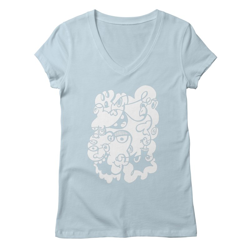 Doodle of the day IV Women's Regular V-Neck by Favati