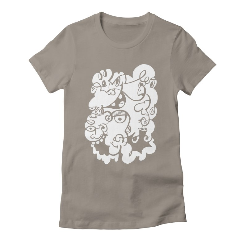 Doodle of the day IV Women's Fitted T-Shirt by Favati