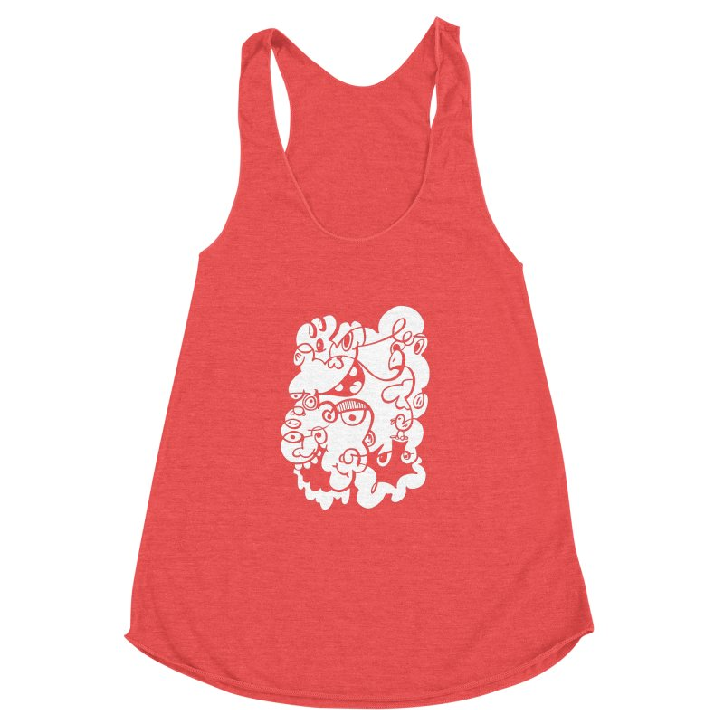 Doodle of the day IV Women's Racerback Triblend Tank by Favati