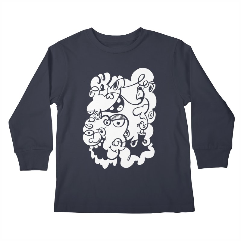Doodle of the day IV Kids Longsleeve T-Shirt by Favati