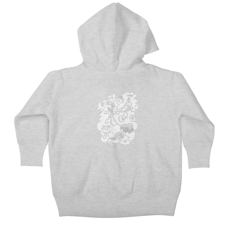 Just another doodle Kids Baby Zip-Up Hoody by Favati